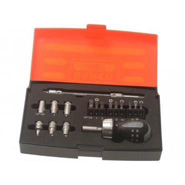 Bahco 808050S-18 18 Piece Stubby Ratcheting Screwdriver Set