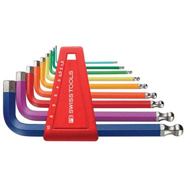 PB Swiss Tools PB 212.H-10 RB Rainbow Ballpoint Metric Hex Key Set