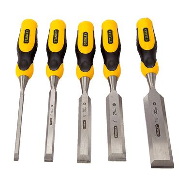 Stanley 5-16-421 5-Piece DynaGrip Wood Chisel Set