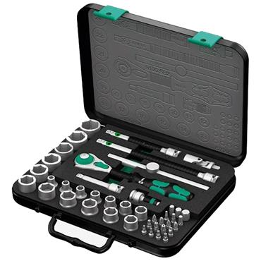 "Wera 8100 SA 2 42 Piece Metric Zyklop 1/4"" Drive Ratchet Socket Set"