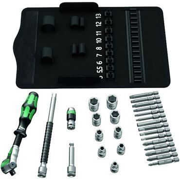 "Wera 8100 SA 6 28 Piece Metric 1/4"" Drive Ratchet Socket Set"