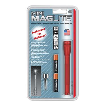 Maglite M3A036 Red AAA Mini Flashlight with Clip