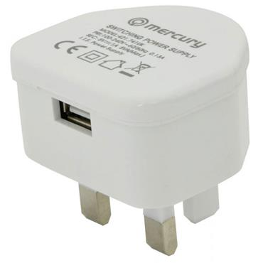Mercury Compact USB Mains Charger 2.1A
