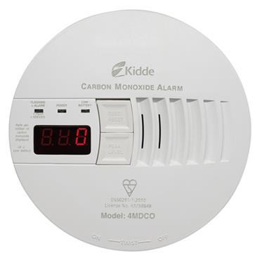 Kidde 4MDCO 240 Volt Hard Wired Carbon Monoxide Alarm with Digital Display