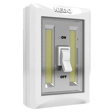 Nebo Flipit 400 LED Everywhere Light with Wall Switch Twin Pack