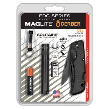 Maglite SJ3ATMK LED Flashlight with Folding Knife Kit