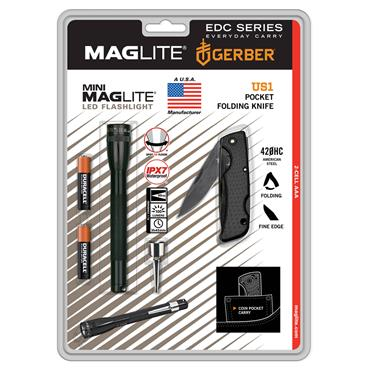 Maglite SP32TRK Mini LED Flashlight with Folding Knife Kit