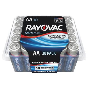 Rayovac 815-30PPTK 30 Piece High Energy AA Alkaline Batteries