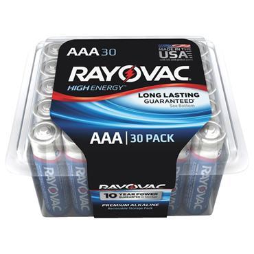 Rayovac 824-30PPTK 30 Piece High Energy AAA Alkaline Batteries