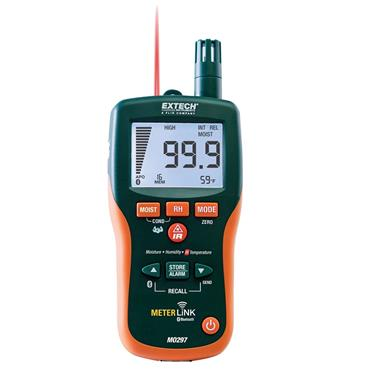 Extech MO297 Pinless Moisture Meter + IR Thermometer
