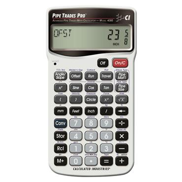 Calculated Industries 4095 Advanced Pipe Trades Pro Math Calculator