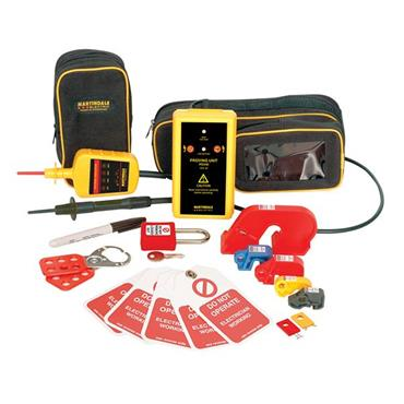 MARTINDALE  MARVIPDLOK138 Voltage Indicator, Proving Device & Lock Out 18 Piece  Kit