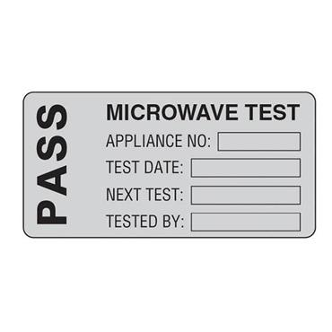 MARTINDALE MICRO 50 x 25mm Microwave Test PASS PAT Test Labels, Roll of 500 Labels