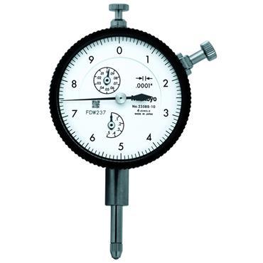 "Mitutoyo 2358S-10 0.5""/0.01"" Flat Back Standard Type Dial Indicator"
