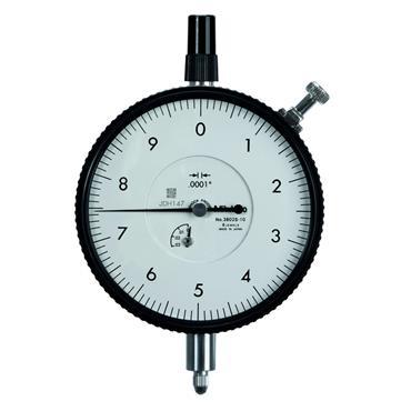 "Mitutoyo 3803S-10 0.025""/0.01"" Large Diameter High Resolution Dial Indicator"