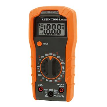 KLEIN TOOLS MM300 Digital Multimeter, Auto-Ranging, 600V