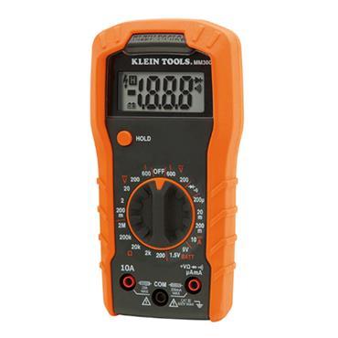 KLEIN TOOLS MM300 Digital Multimeter, Auto-Ranging, 600V