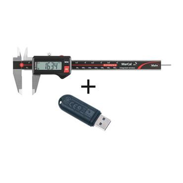 "Mahr MarCal 16 EWRi 0-150mm/0-6"" Digital Caliper with I-stick Wireless Receiver"