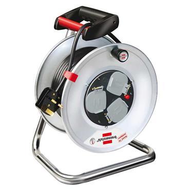 Brennenstuhl 1198113 240 Volt 20m 3-Way Socket Cable Reel