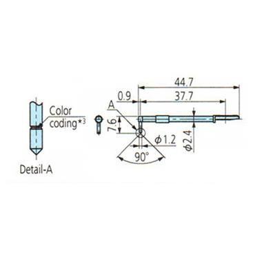 Mitutoyo 12AAB411 5µm Knife-Edge Detector Stylus