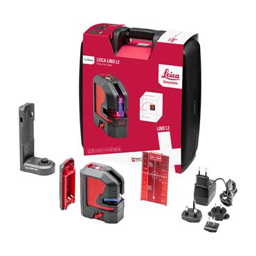 Leica 864413 Lino L2 Cross Line Red Laser Level Kit
