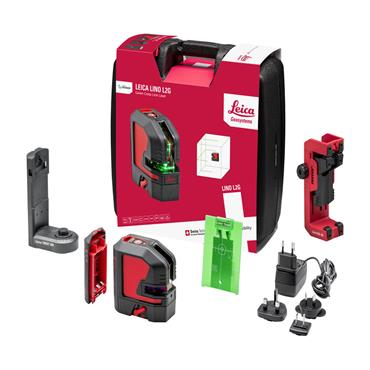 Leica 864420 Lino L2G Cross Line Green Laser Level Kit