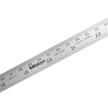 Mitutoyo 182-309 1000mm Semi-Flexible Metric/Imperial Steel Rule
