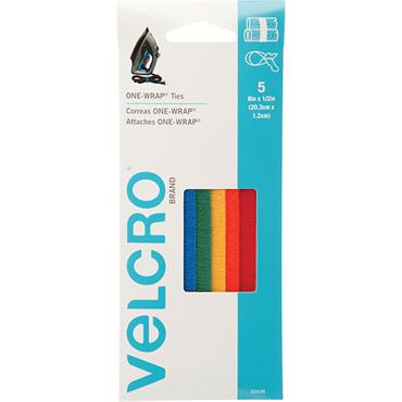 "VELCRO® BRAND  Multi Coloured One Wrap Strap 8""X1/2"" 90438"