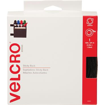 VELCRO® BRAND Hook and Loop Tape Roll, Sticky Back 90081