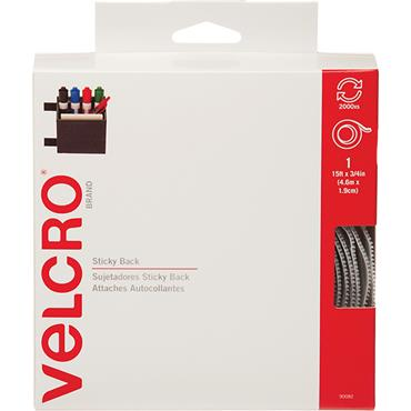 "VELCRO® BRAND Hook and Loop Fastener Tape 3/4"" x 15ft 90082"