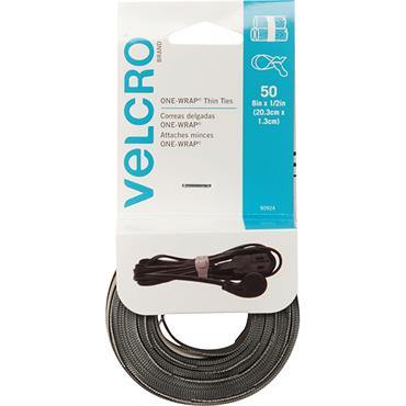 VELCRO® BRAND   Reusable Ties (50-Pack) 8 in. x 1/2 in. 90924