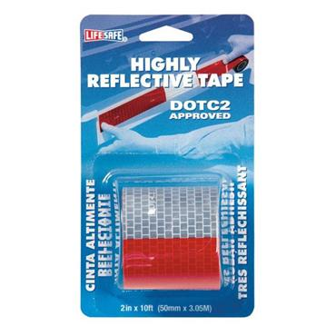 LIFESAFE  RE2110 Highly Reflective Red and Silver Tape