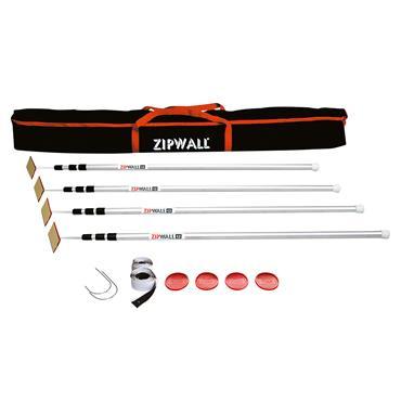 ZipWall SLP4 12 foot Dust Barrier System - 4 Pack