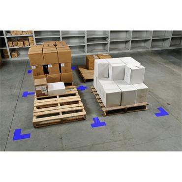 Brady 104432 ToughStripe Blue Floor Corner Marks