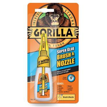 Gorilla 4044501 12ml 2-in-1 Super Glue Clear Brush and Nozzle