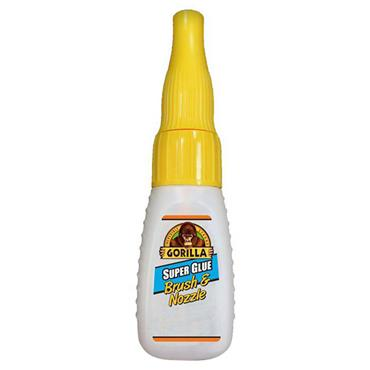 Gorilla 4044501 12ml 2-in-1 Super Glue Clear Brush and Nozzle