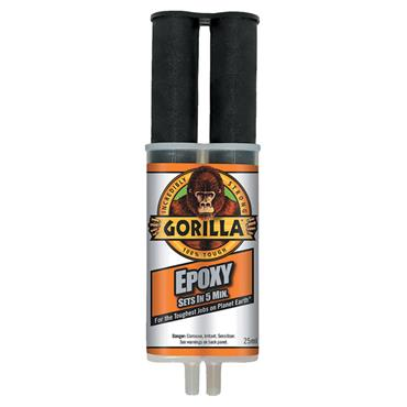 Gorilla 6044001 25ml 2-Part Transparent Epoxy Syringe