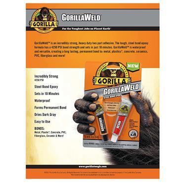 Gorilla 6144001 29.5ml GorillaWeld Dark Grey Titanium Bond Epoxy