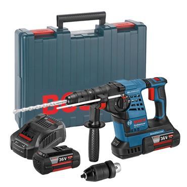 Bosch GBH 36 VF-Li 36 Volt Professional SDS-Plus Rotary Hammer Drill, 2 x 4.0Ah Batteries