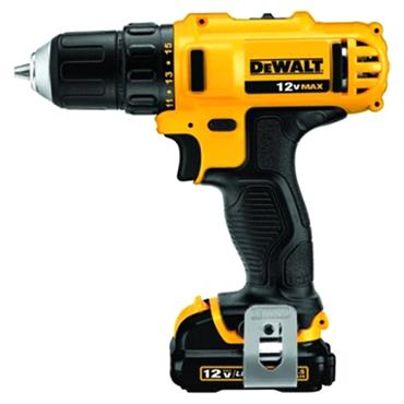 DeWALT DCD710D2 12 Volt Cordless Compact Drill Driver, 2 x 2.0Ah Batteries
