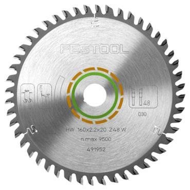Festool 160 x 20 x 48T, Fine Tooth Blade - 491952