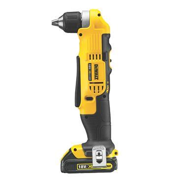 DeWALT DCD740C1 18 Volt 2 Speed Angle Drill Driver, 1 x 1.5Ah Batteries