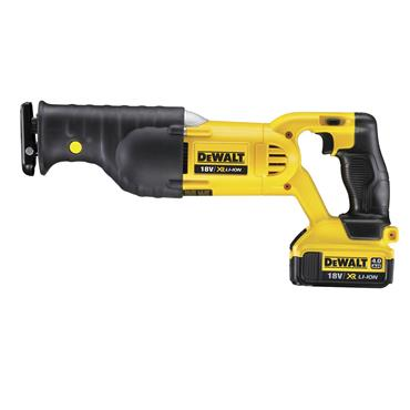DeWALT DCS380M2 18 Volt XR Lithium-Ion Reciprocating Saw Kit, 2 x 4.0Ah Batteries
