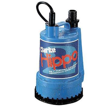 Clarke Hippo 2 240 Volt  Submersible Water Pump, 85 Litre/Minute