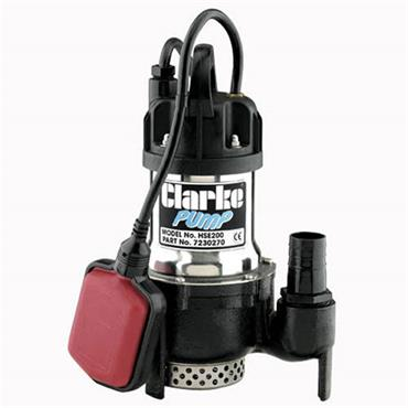 Clarke HSE200A 240 Volt Submersible Water Pump, 200 Litre/Minute