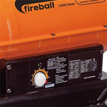 Sip 09566 240 Volt Fireball 125XD BTU Diesel Space Heater, 3.6kW