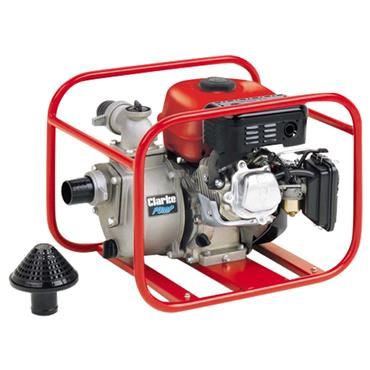 Clarke PW2 4-Stroke Petrol Engine Driven Water Pump, 416 Litre/Minute