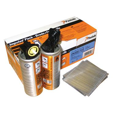 Paslode 18 Gauge Fine Finish Brads and Fuel Cell Packs