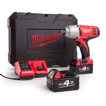 "Milwaukee HD18HIWF-402C 18 Volt Cordless 1/2"" Impact Wrench, 2 x 4.0Ah Batteries"