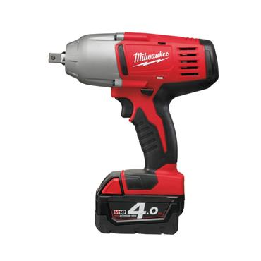 "Milwaukee HD18HIWF-402C 18 Volt Cordless 1/2"" Impact Wrench, 2 x 4.0Ah Batteries"